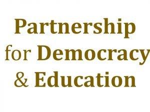 Partnership for Democracy & Education logo